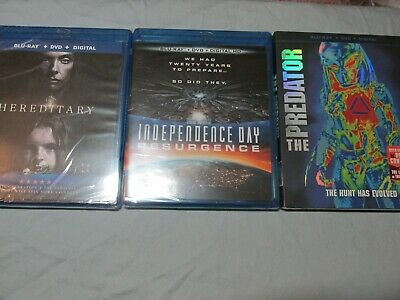 Lot of 10 HORROR movies MIXED Blu-ray & DVD + Digital ~ Some New Some Used