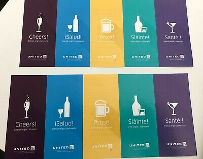 United Airlines 10 Beverage Drink Vouchers Coupons Expires 1/31/2020