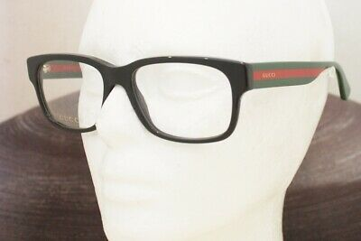 38ee725904 GUCCI GG 0343O eyeglasses Frame 007 Black Red Green 57mm MEN Italy Authentic