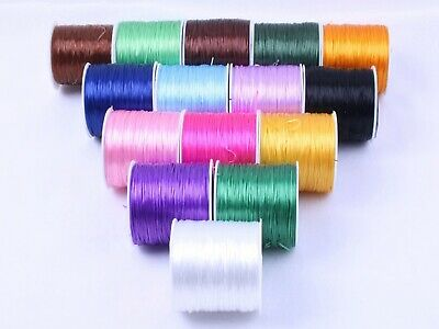 60 Meters Elastic Crystal String Beading Cord Strong Stretchy Thread 0.5mm Thick