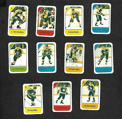 1982-83 Post Cereal La Kings Nhl Team Lot Of 11 Mini Cards: Simmer, Dionne+
