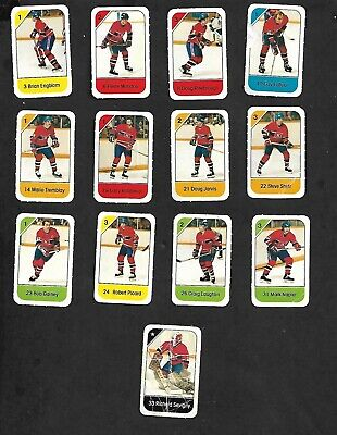 1982-83 Post Cereal Montreal Canadiens Nhl Team Lot Of 13 Mini Cards: Lafleur+