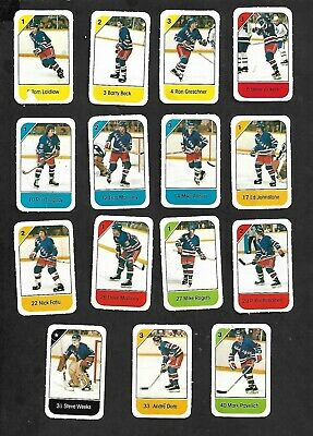 1982-83 Post Cereal New York Rangers Nhl Team Lot Of 15 Mini Cards: Duguay, Beck