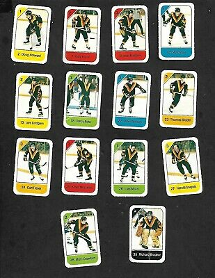 1982-83 Post Cereal Vancouver Canucks Nhl Team Lot Of 14 Mini Cards: Gradin+