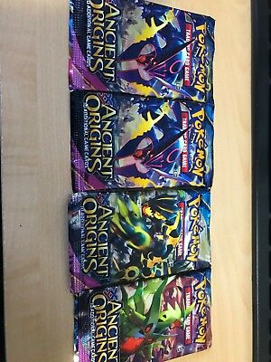 Pokemon TCG XY Ancient Origins x4 Factory Sealed Booster Packs Unsearched SKU#52