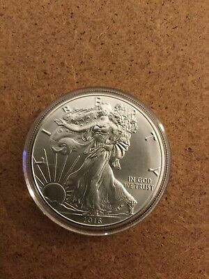 2016 American Silver Eagle .999 1 oz. Silver  BU, W/Air-Tite Plastic Coin Holder