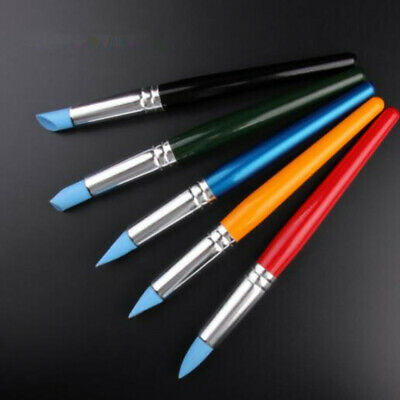 5Pcs Flexible Silicone Color Clay Shapers Clay Sculpting Tools Sculpture