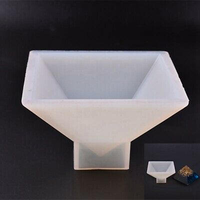 Decorative Large Pyramid Shape Silicone Mold Resin Casting Jewelry Making Mould