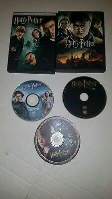 Harry potter  Lot 5 movies: sorcerer's stone, goblet of fire, order of Phoenix