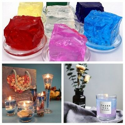 100g Transparent Gel Wax Crystal Jelly Wax Natural Plant for Candles Making