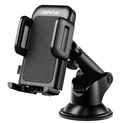 Mpow Car Mount 360° Rotate Windshield Holder Stand For Universal Cell Phone GPS