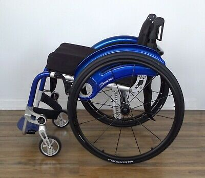 "OttoBock Blizzard wheelchair, 5"" Frog Legs, 12-spoke wheels - tilite-spinergy"