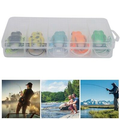 5Pcs/Lot Artificial Special Freshwater Fishing Lures Set Double Hook Bait W/ Box