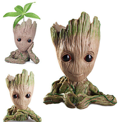 Baby Groot Tree Man Flowerpot Penpot Keychain Guardians of The Galaxy Figure