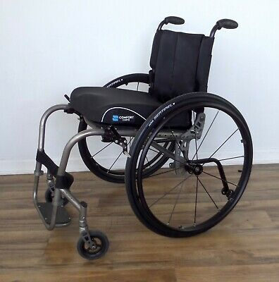 Quickie Ti titanium wheelchair, 12-spoke ultralight wheels - ti-tilite-spinergy
