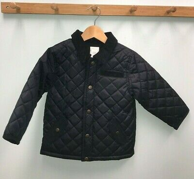 Gymboree Boys Barn Jacket Size 2T 3 T Quilted Black Coat