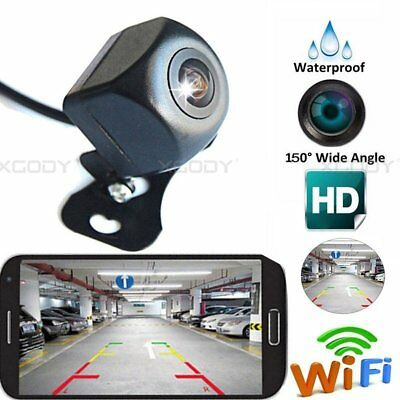 WiFi Wireless 150°Car Rear View Cam Backup Reverse Camera For iPhone Android ios