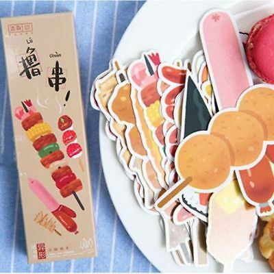 30 Pieces Barbecue Food Bookmarks Office Supplies Gift Stationery Souvenirs New
