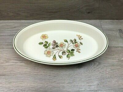 Vintage Marks Spencer Autumn Leaves Oval Open Serving Dish / Pie Dish