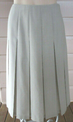 Fletcher Jones vintage deep beige wool-blend pleated skirt size 13(8-10)(US 4-6)