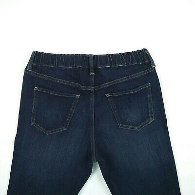 UNIQLO - Blue Elastic Waist Straight Stretch Denim Jeans Kids Size XL W23 to 29
