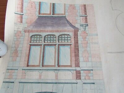 10 original antique Architectural plans; Church and old Gentleman's house.