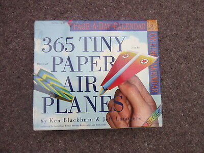 2005 Page A Day 365 Tiny Paper Airplanes Calendar Ken Blackburn Folded Origami