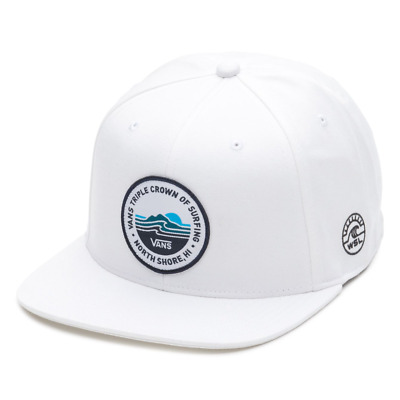 380f601eb1a Vans Off The Wall Men s VTCS Lockup Triple Crown of Surfing Hat Cap (White)