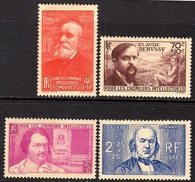 (002)     France 1939 Unemployed Intellectuals Relief Fund Set SG645-48 LM/Mint