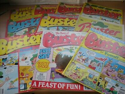 10 Vintage BUSTER Comics - Includes 3 'The Best Of Buster' + Bumper Xmas Issue