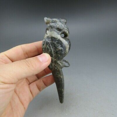 China,jade,hongshan culture,hand carving,natural jade,The eagle,pendant A5