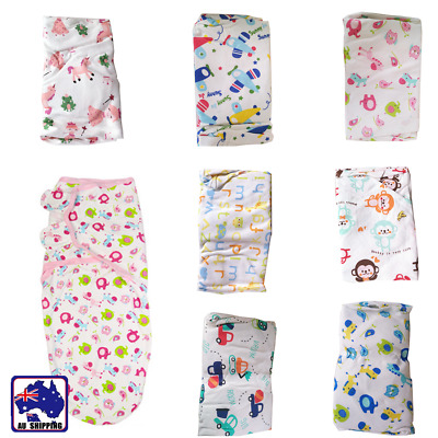 Newborn Baby Cotton Swaddle Swaddling Blanket Infant Sleeping Bag Wrap BSB0277