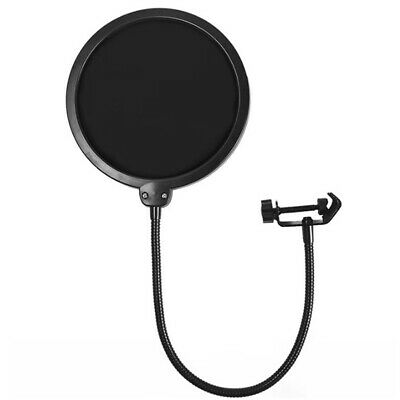 Double Layer Studio Recording Microphone Wind Screen Mask Filter Shield BL