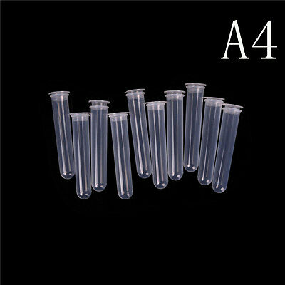10Pcs 50ml Plastic Centrifuge Tube Pipe Vial Lab Test Container With 4 Bottom M&