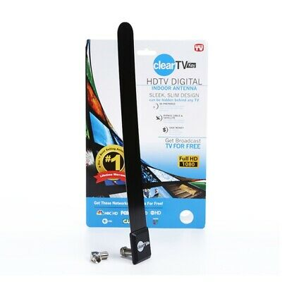 As Seen on-TV Clear TV Key HDTV FREE TV Digital Antenna Ditch Cable Indoor