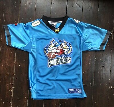 Official Walt Disney World Kids Mickey Sorcerers Football Jersey Top M 7/8 Boys