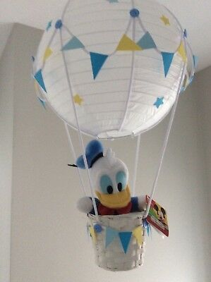 Disney Donald duck lightshade hot air balloon nursery light shade