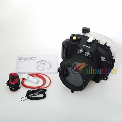 Meikon 40M 130ft Waterproof Underwater Camera Case For Canon EOS 600D 18-55mm