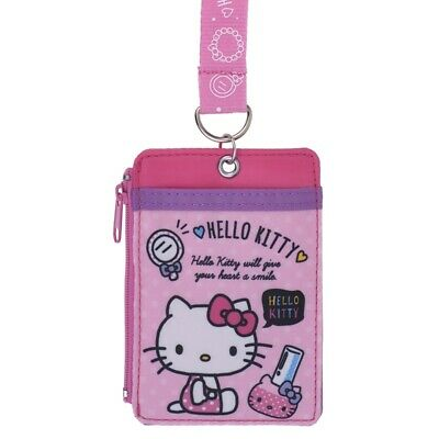 ef704b3fd Sanrio Hello Kitty Card Pouch / Card Holder with Neck Strap (9-7130-