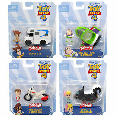 Disney Pixar Toy Story 4 Minis - Figure & Vehicle Pack *CHOOSE YOUR FAVOURITE*