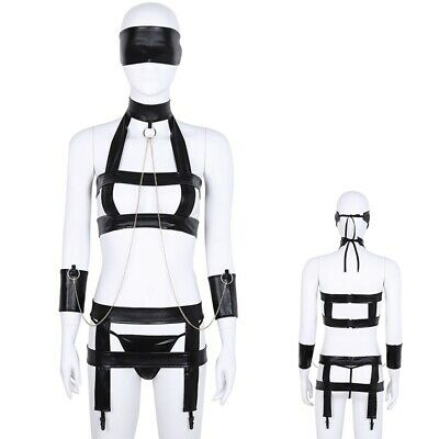 Damen Einstellbar Body Brust Harness Punk Gothic Brustgurt GOGO Clubwear Outfits