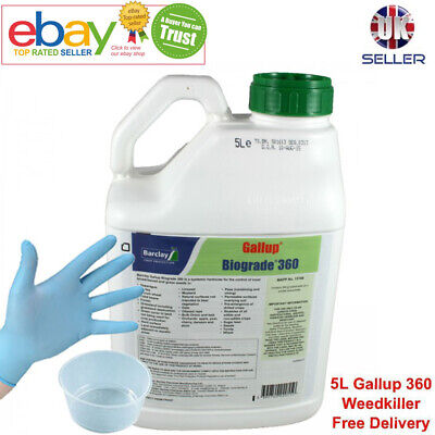 100% Geniune Gallup Super Strength Professional Glyphosate Garden Weed Killer 5L