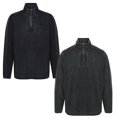2159bad32c3bad Kensington Mens Darnley Pique Top Designer Washed Out Zip Neck Pull Over  Jumper