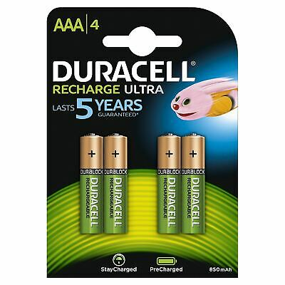 Duracell 850mAh Pre Charged Rechargeable AAA Batteries - Pack of 4
