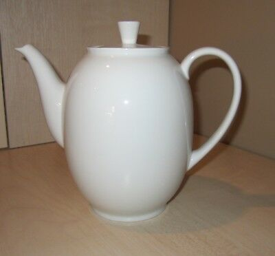Lovely Arzberg White China  7 Cup Coffee Pot  Germany -  Mid Century Modern
