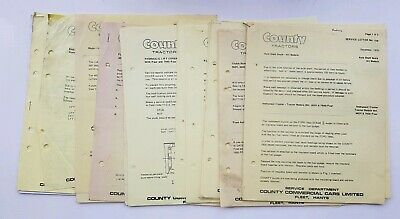 County Tractors Service Letter Bulletins X 20