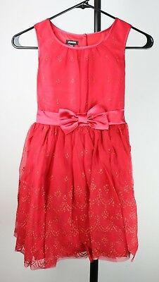 5ce6e54b8 Zunie Big Girls' Printed Glitter Mesh Holiday Christmas Dress with Bow,  Red, ...