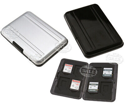 8 in 1 Micro SD Memory Card Storage Carrying Case Holder Box Aluminum Black