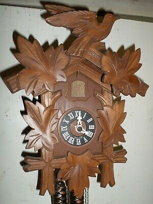 Nice Large German Black Forest Hubert Herr Traditional Hand Carved Cuckoo Clock!