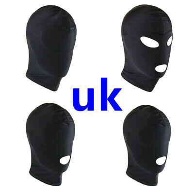 Unisex Blindfold Face Open Eye Mouth Mask Hood Headgear Role Play Costume Sexy